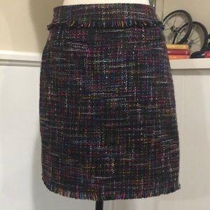 H&M Multicolored Tweed Skirt